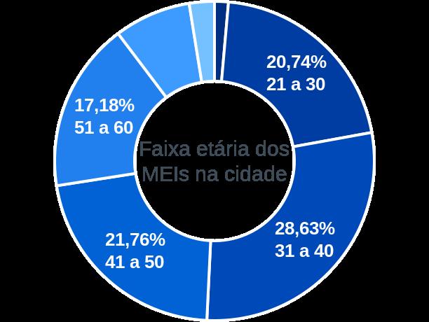 Faixa etária de MEIs na cidade de Conceição do Rio Verde