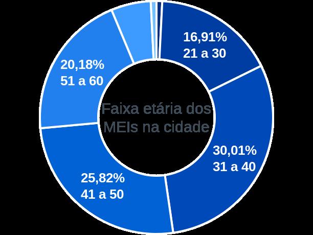 Faixa etária de MEIs na cidade de Conceição dos Ouros