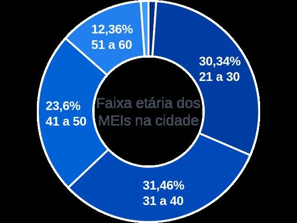 Faixa etária de MEIs na cidade de Cônego Marinho