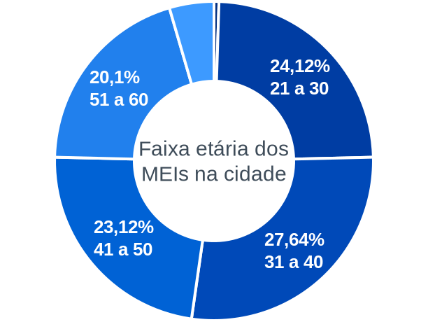 Faixa etária de MEIs na cidade de Cruzeiro da Fortaleza