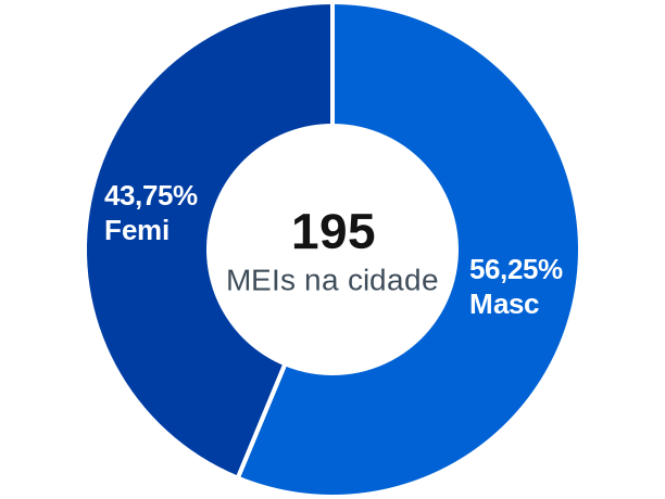 Gênero de MEIs na cidade de Cuparaque