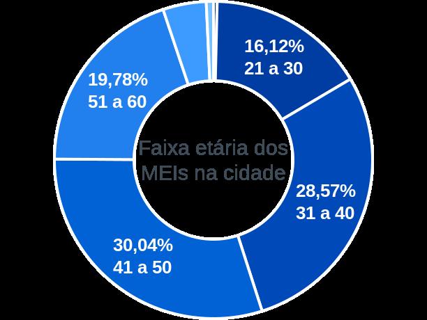 Faixa etária de MEIs na cidade de Desterro de Entre Rios
