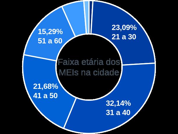 Faixa etária de MEIs na cidade de Entre Rios de Minas