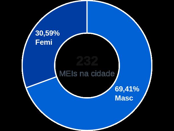 Gênero de MEIs na cidade de Formoso