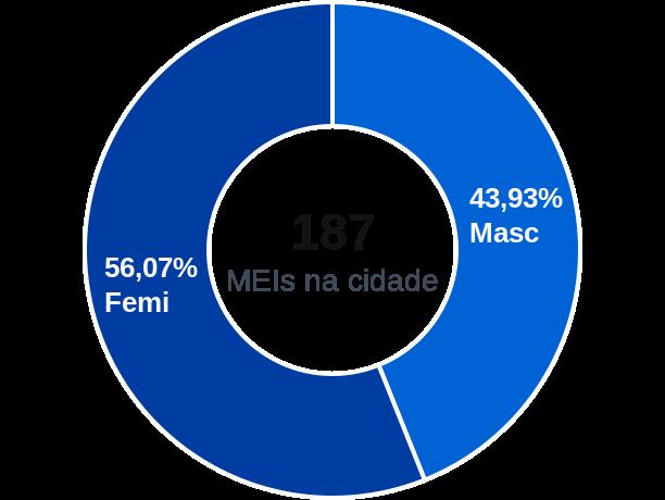 Gênero de MEIs na cidade de Fortaleza de Minas