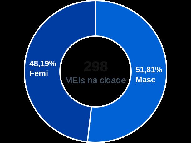 Gênero de MEIs na cidade de Funilândia