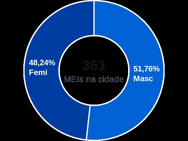 Gênero de MEIs na cidade de Guimarânia