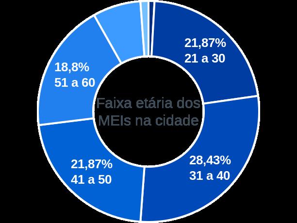 Faixa etária de MEIs na cidade de Itaú de Minas