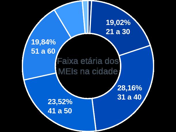 Faixa etária de MEIs na cidade de João Monlevade