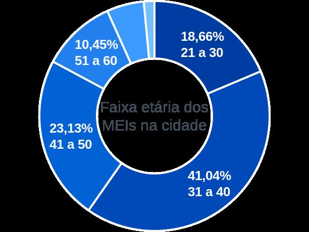 Faixa etária de MEIs na cidade de José Gonçalves de Minas