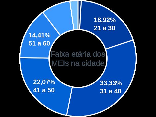 Faixa etária de MEIs na cidade de Leandro Ferreira