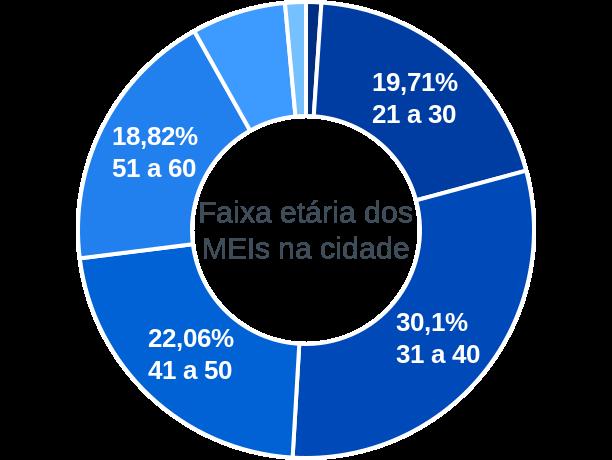 Faixa etária de MEIs na cidade de Matias Barbosa