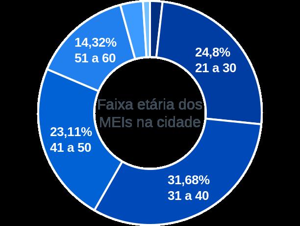 Faixa etária de MEIs na cidade de Novo Cruzeiro