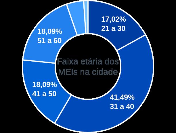 Faixa etária de MEIs na cidade de Oliveira Fortes