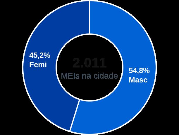 Gênero de MEIs na cidade de Oliveira