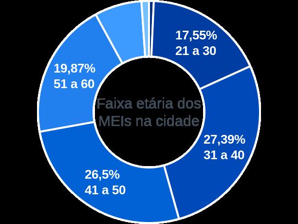 Faixa etária de MEIs na cidade de Oliveira