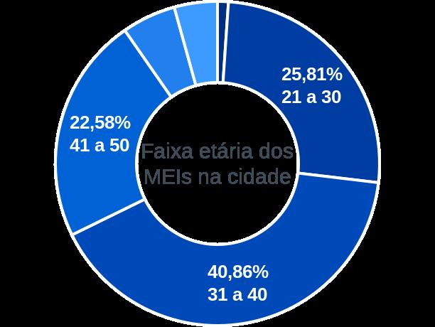 Faixa etária de MEIs na cidade de Padre Carvalho