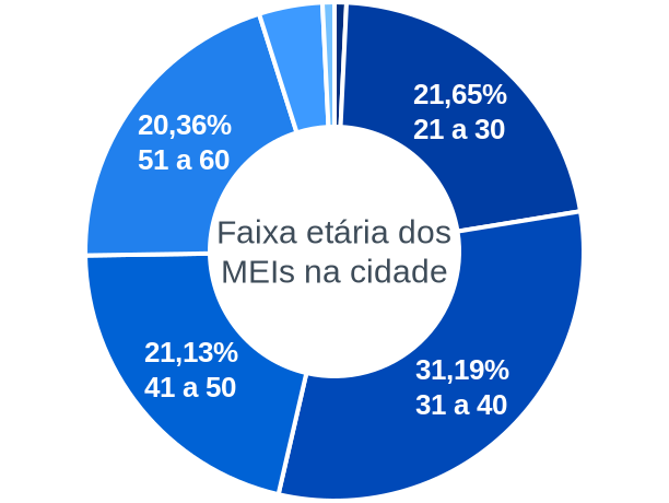 Faixa etária de MEIs na cidade de Paula Cândido