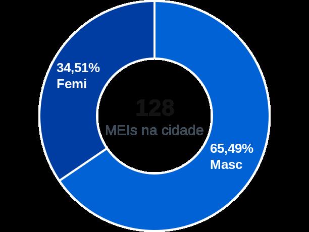 Gênero de MEIs na cidade de Paulistas