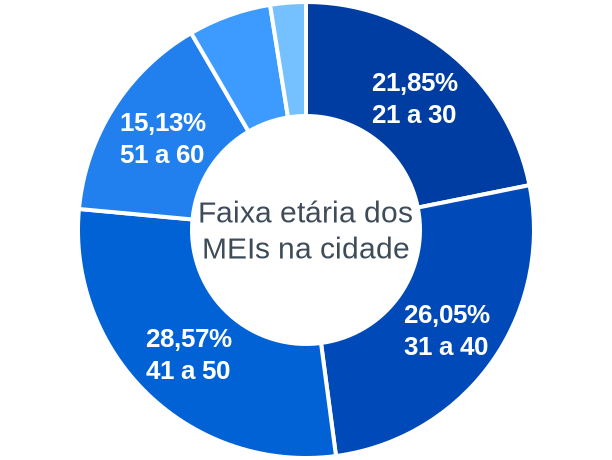 Faixa etária de MEIs na cidade de Pedro Teixeira