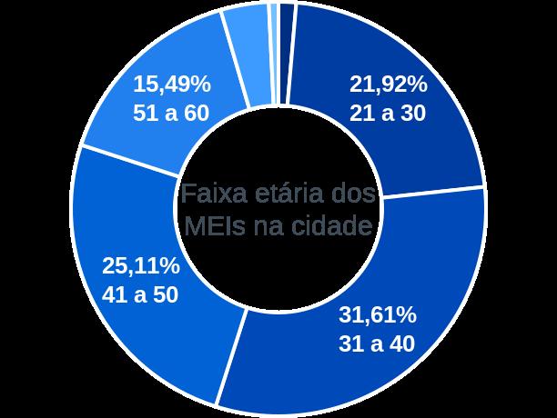 Faixa etária de MEIs na cidade de Porteirinha