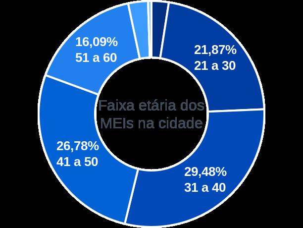 Faixa etária de MEIs na cidade de Presidente Olegário