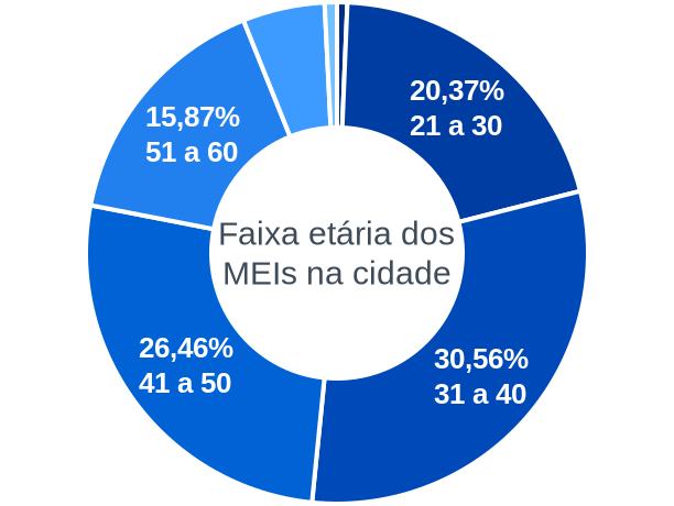 Faixa etária de MEIs na cidade de Rio Acima