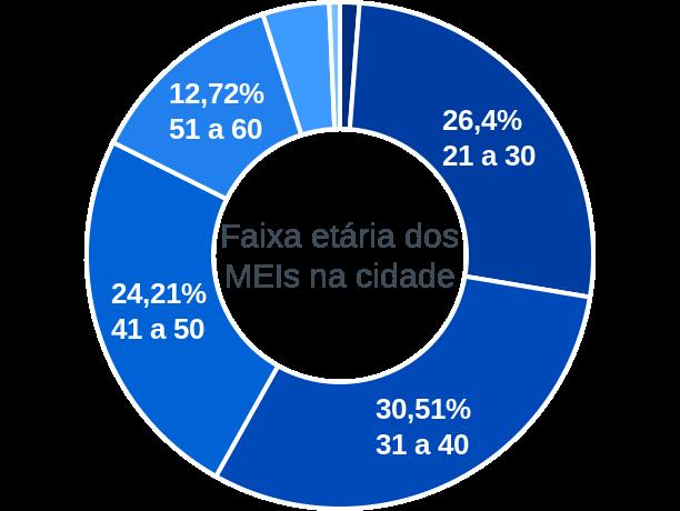 Faixa etária de MEIs na cidade de Rio Paranaíba