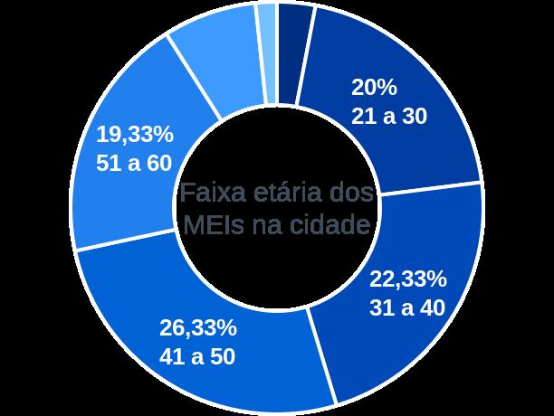 Faixa etária de MEIs na cidade de Salto da Divisa