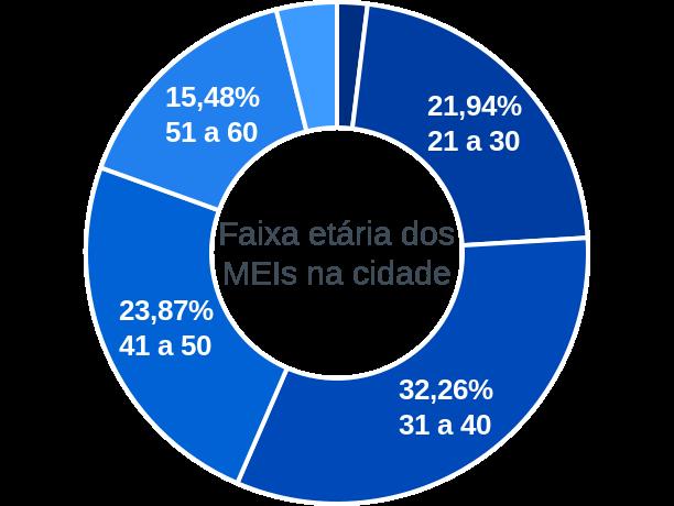 Faixa etária de MEIs na cidade de Santo Antônio do Itambé