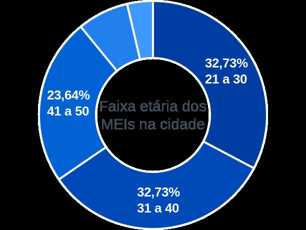 Faixa etária de MEIs na cidade de Santo Antônio do Retiro