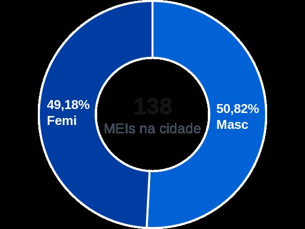 Gênero de MEIs na cidade de São Félix de Minas
