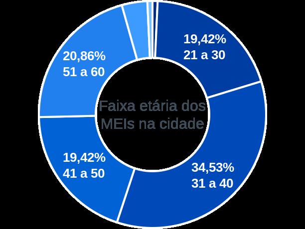Faixa etária de MEIs na cidade de São Félix de Minas