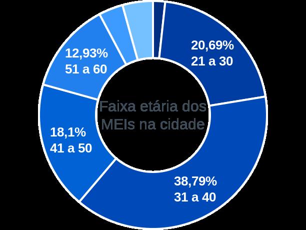 Faixa etária de MEIs na cidade de São Geraldo do Baixio