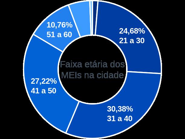 Faixa etária de MEIs na cidade de São Gonçalo do Rio Preto