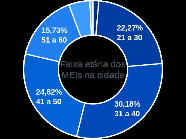 Faixa etária de MEIs na cidade de São Gotardo