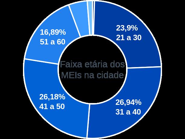 Faixa etária de MEIs na cidade de São João Batista do Glória