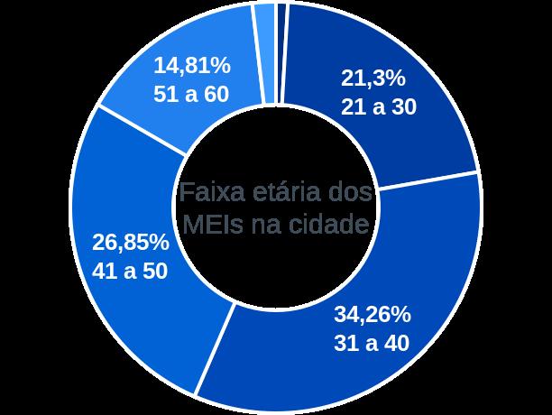 Faixa etária de MEIs na cidade de São João da Lagoa
