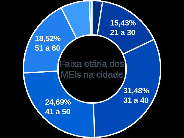 Faixa etária de MEIs na cidade de São João da Mata