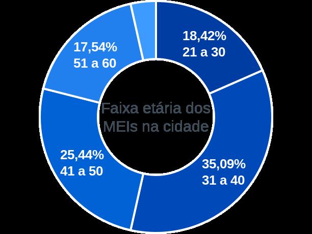 Faixa etária de MEIs na cidade de São José da Safira
