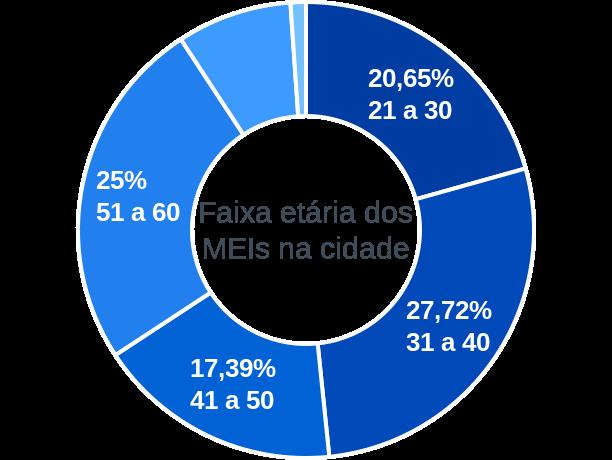 Faixa etária de MEIs na cidade de São José da Varginha