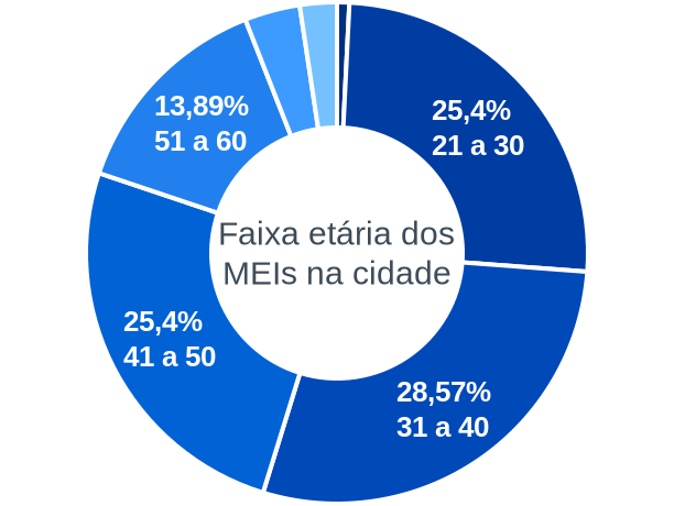 Faixa etária de MEIs na cidade de São José do Alegre