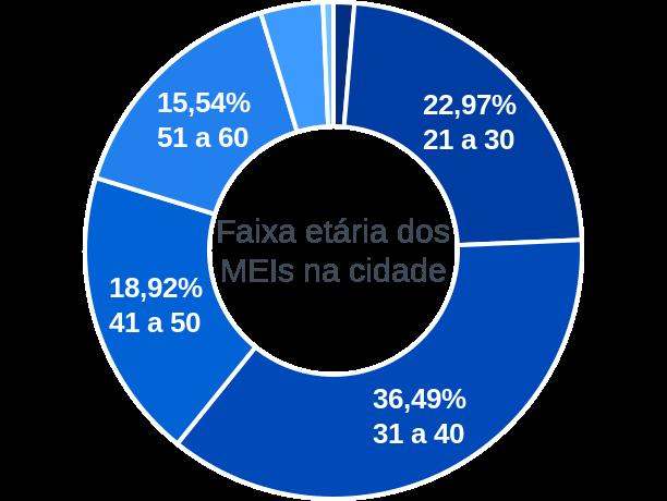 Faixa etária de MEIs na cidade de São José do Divino
