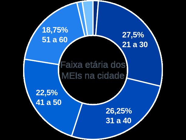 Faixa etária de MEIs na cidade de São José do Mantimento