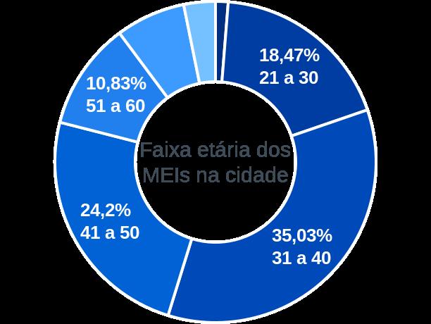 Faixa etária de MEIs na cidade de São Pedro da União