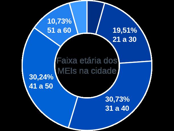Faixa etária de MEIs na cidade de São Sebastião do Anta
