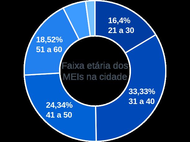 Faixa etária de MEIs na cidade de São Sebastião do Maranhão