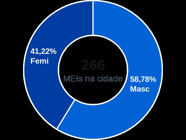 Gênero de MEIs na cidade de Senador Firmino