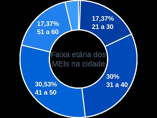 Faixa etária de MEIs na cidade de Senhora de Oliveira