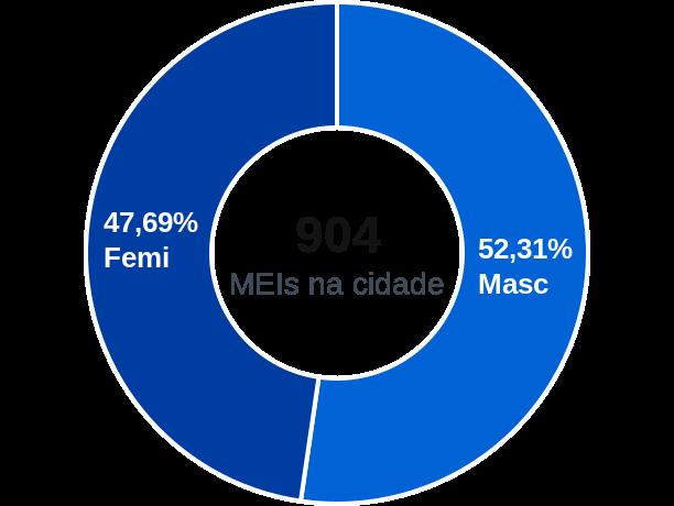 Gênero de MEIs na cidade de Tiradentes